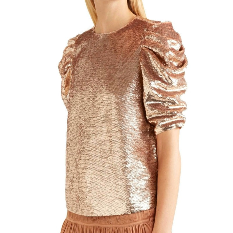 Ulla Johnson Rose Gold Rae Blouse