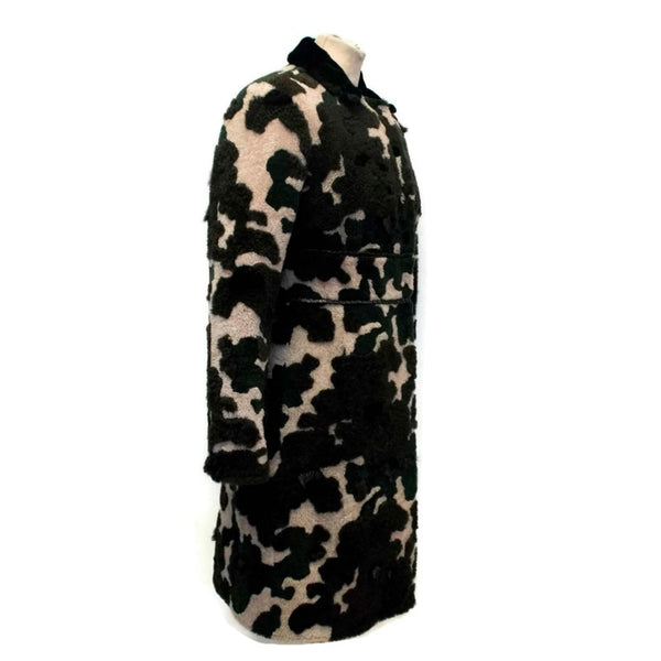 Fay Camo Camouflage with Mink and Rabbit Fur Coat