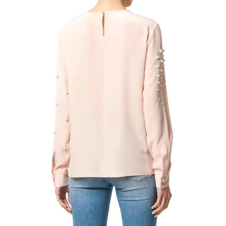 Stella McCartney Pink Pearl Embellished Blouse