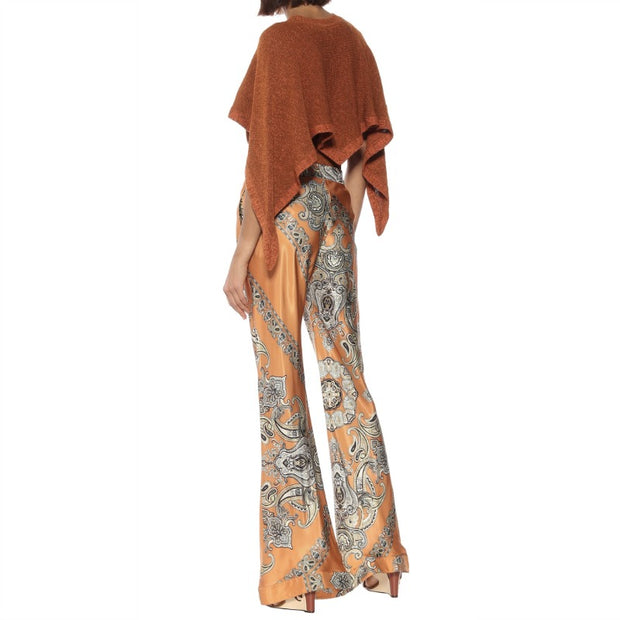 Chloé Sienna Brown Printed Twill Pants