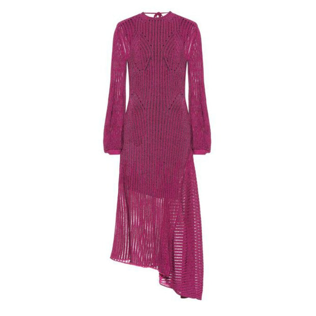 Chloé Purple Cotton-blend Knit Casual Maxi Dress