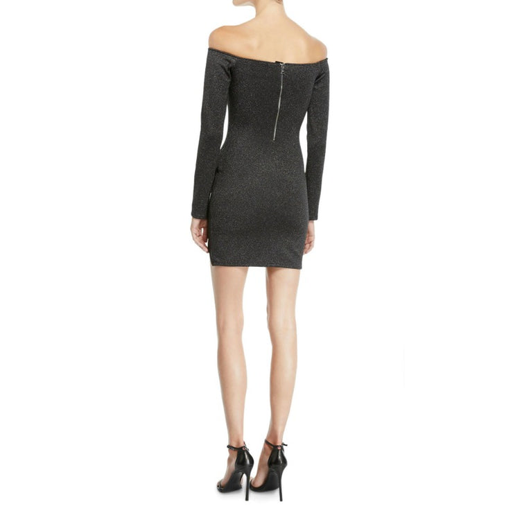 RtA Black / Silver Metallic Electra Dress