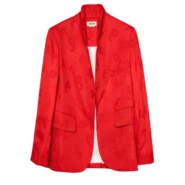 Zadig & Voltaire Red Verys Jac Paisley Blazer