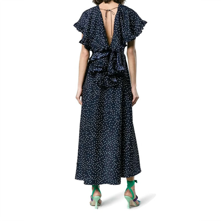 Magda Butrym Navy Blue Avola Dress