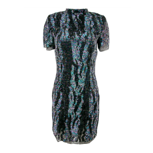 Haney Purple Quartz / Emerald Green Syd Sequin Dress
