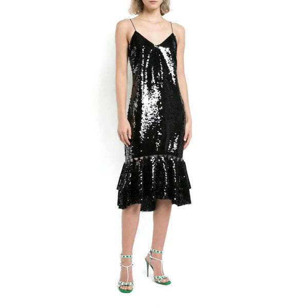 Sachin + Babi Black Sequin Evren Dress
