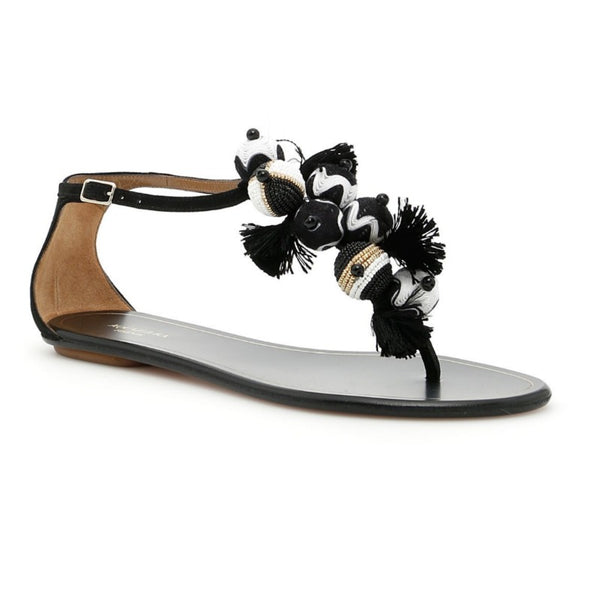 Aquazzura Black Tropicana Sandals