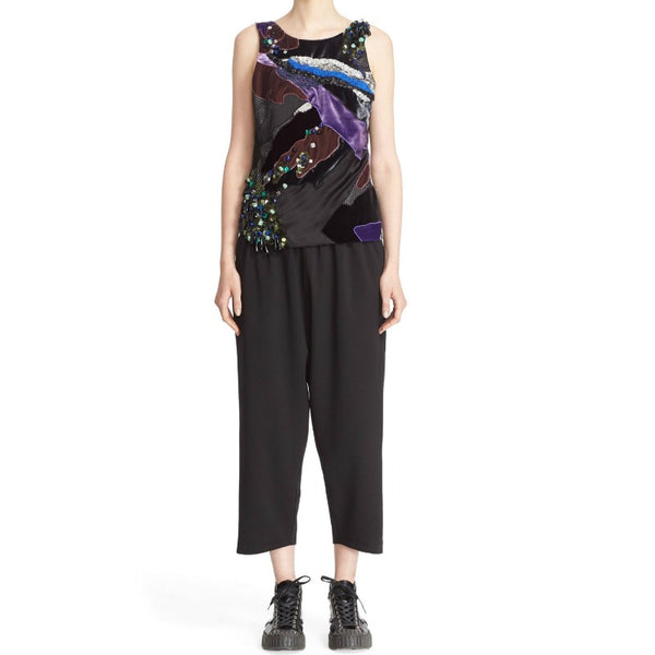 KOCHÉ Purple Multi Embellished Tank