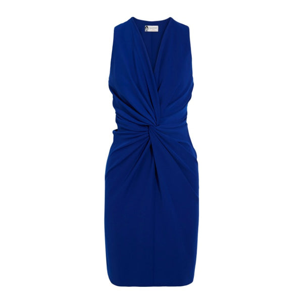 Lanvin Cobalt Twist Front Dress