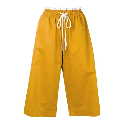 Marni Sunflower Yellow Cropped Drawstring Pants
