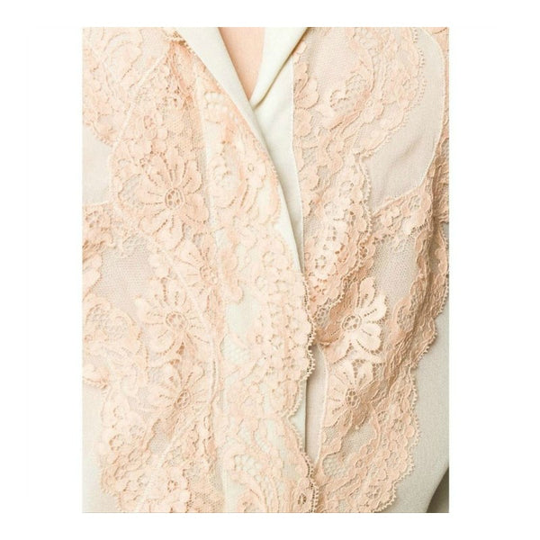 Chloé Pearly Grey Lace Sheer Blouse