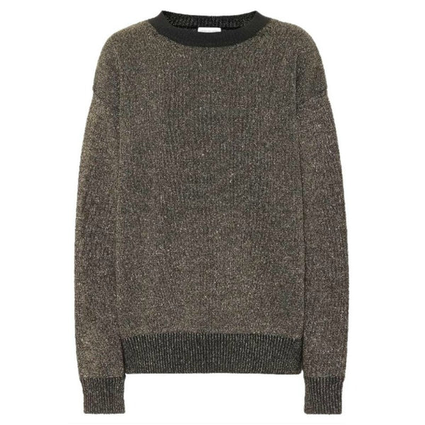 Dries van Noten Metallic Wool Blend Black / Gold Sweater