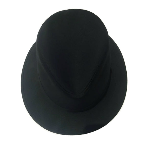 Hermès Black Cotton Fedora
