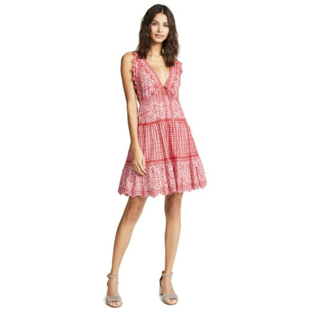 Jonathan Simkhai Embroidered Eyelet Dress