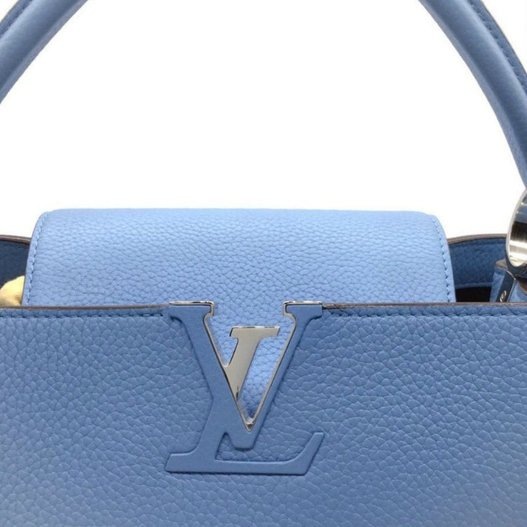 Louis Vuitton Capucines Mm Tauri Bleuet Blue Satchel