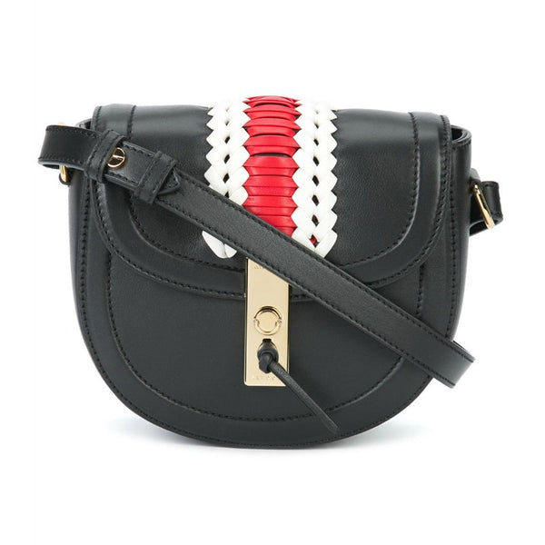 Altuzarra Mini 'Ghianda' Saddle Black Leather Cross Body Bag