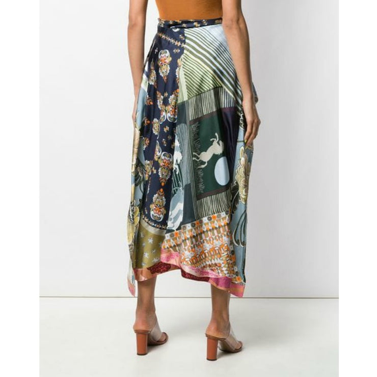 Chloé Multicolor Blue Multi Layered Skirt