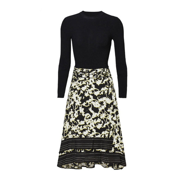 Proenza Schouler Black Multi Printed Vines Dress