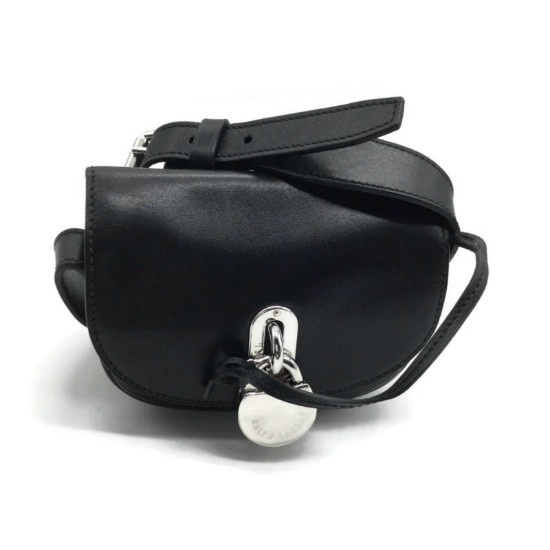 Ralph Lauren Mini Rikki Black Leather Cross Body Bag
