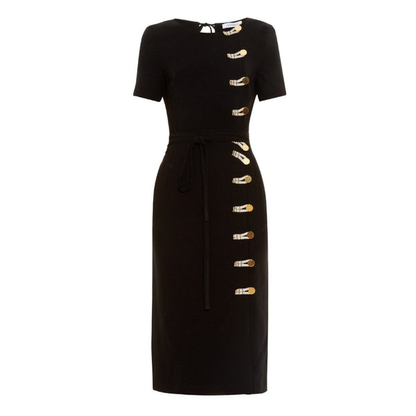 Altuzarra Black Kyoto Rope Toggle Dress