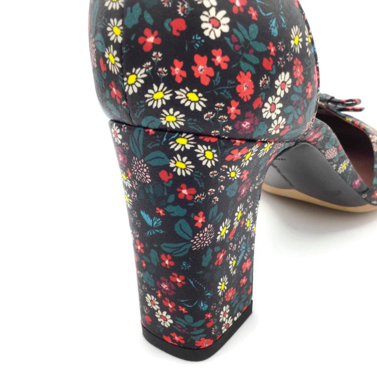 Tabitha Simmons Black Multi Floral Amelia Pumps