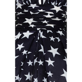 Naeem Khan Navy Blue / White Star Print Gazaar Halter Gown