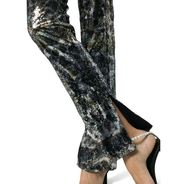 MARY KATRANTZOU Gold / Silver Lux Sequin Trousers
