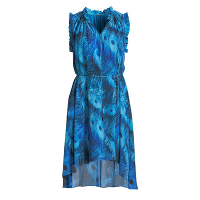 Elie Tahari Blue Spell Balere Casual Dress