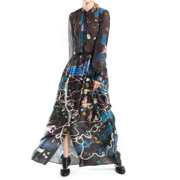 Tsumori Chisato Black / Multi Atteaction Casual Maxi Dress