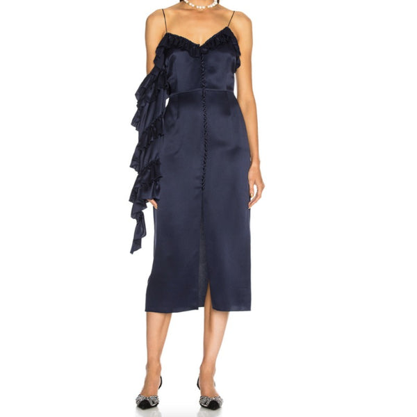 Magda Butrym Navy Pozallo Dress
