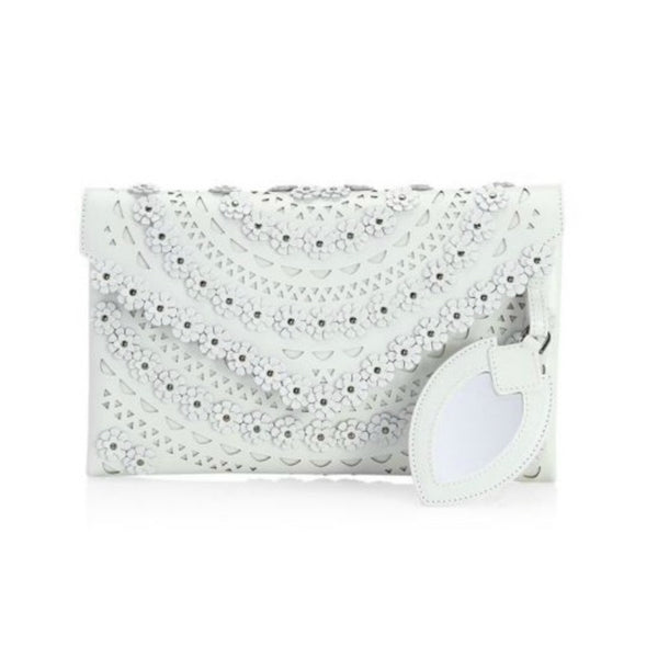 ALAÏA Ivory Leather Clutch
