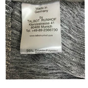 Talbot Runhof Silver Metallic Tapered Pants