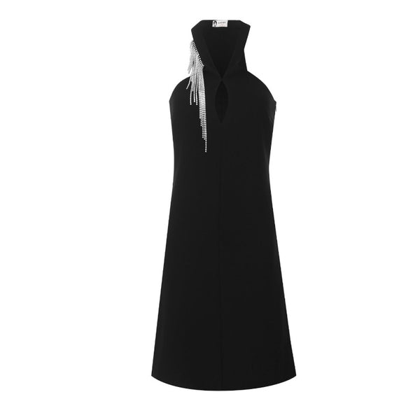 Lanvin Black Rhinestone Dress