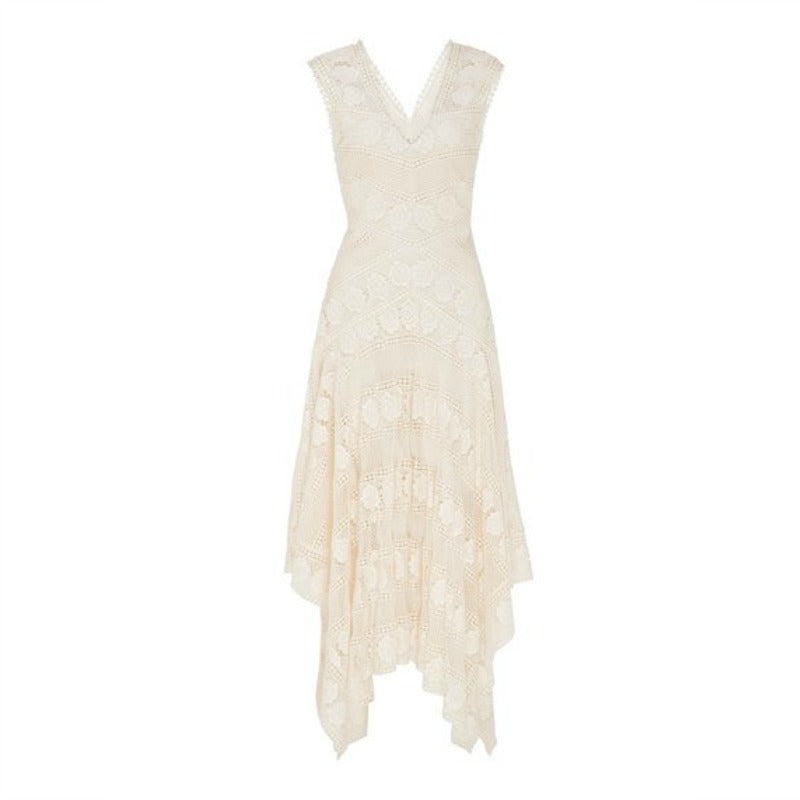Lover Natural Sweetpea Lace Midi Dress
