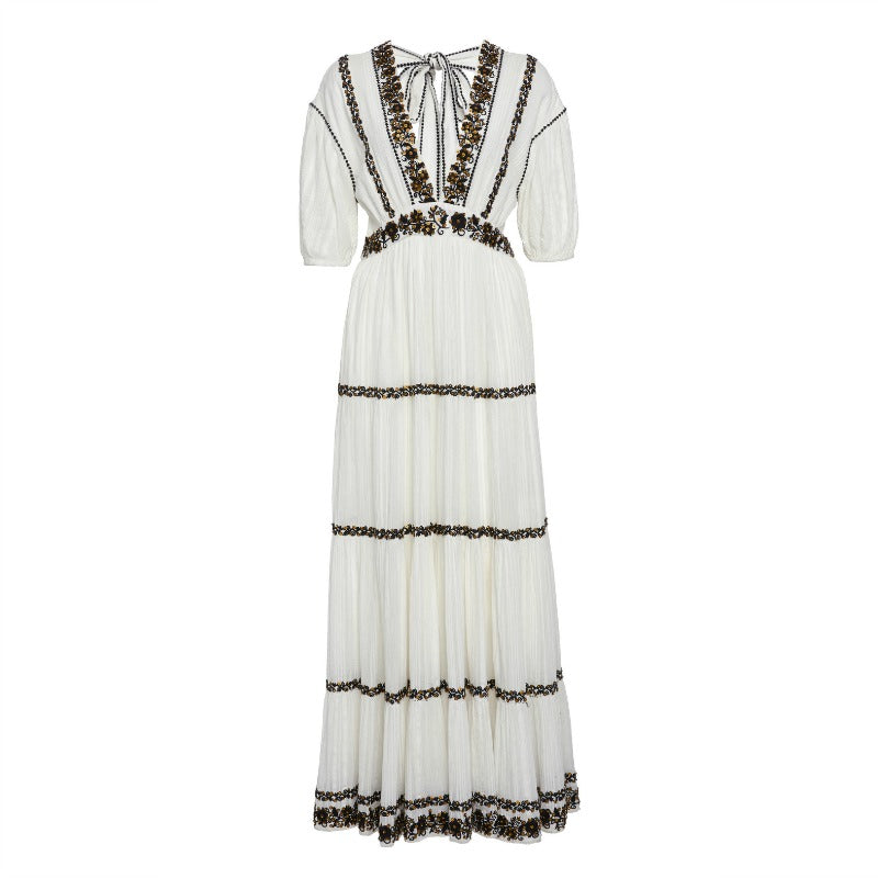 Ulla Johnson White Alma Sequin Dress