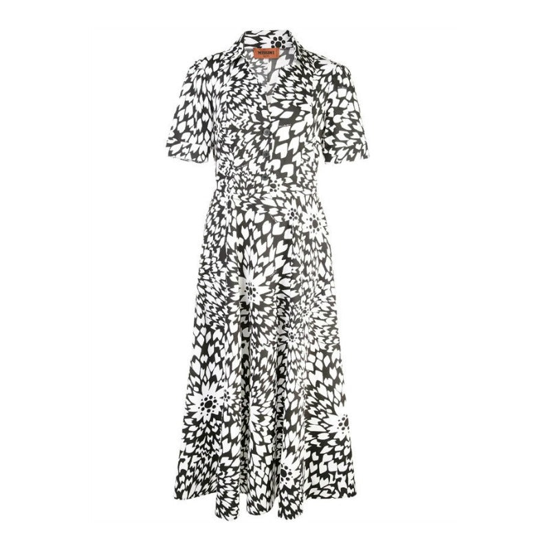 Missoni Black and White Floral Shirt Dress