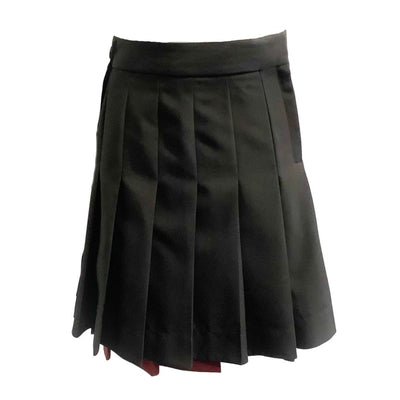 Calvin Klein 205W39NYC Black/Burgundy Skater Asymmetrical Pleated Skirt