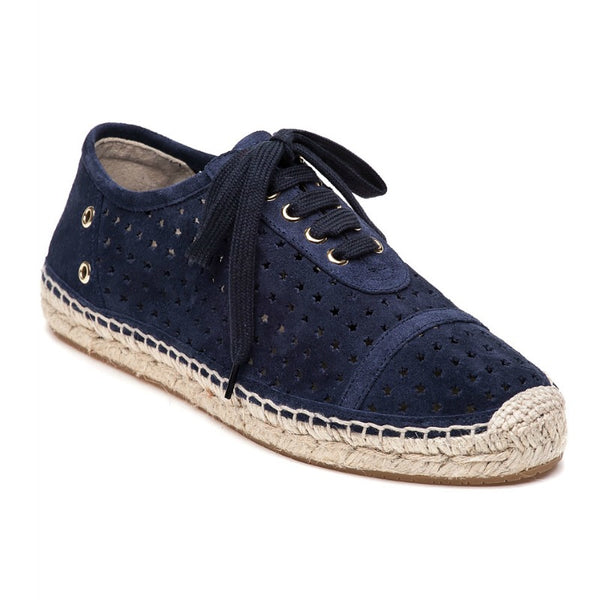 Jimmy Choo Navy Blue Dare Perforated Espadrilles