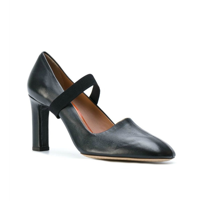 Santoni Edited By Marco Black Zanini Cross Strap Pumps