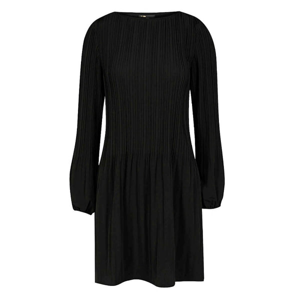 Maje Black Rockin Pleated Dress