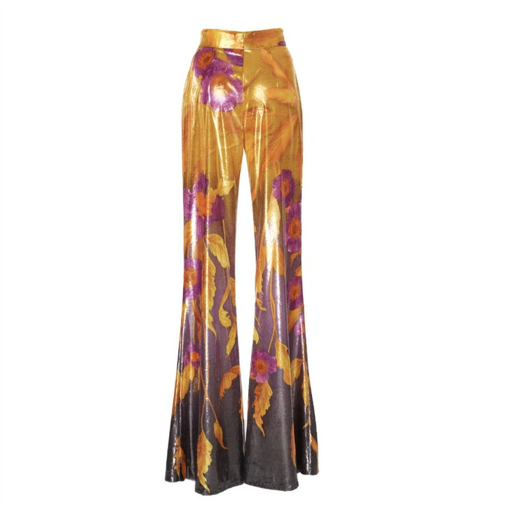 Peter Pilotto Dark Poppy Printed Velvet Pants