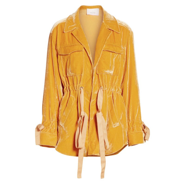Cinq à Sept Sunflower Yellow Velvet Mathiue Jacket