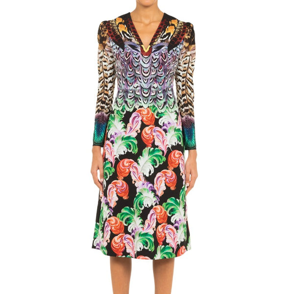 MARY KATRANTZOU Multicolor Pheasant Dress