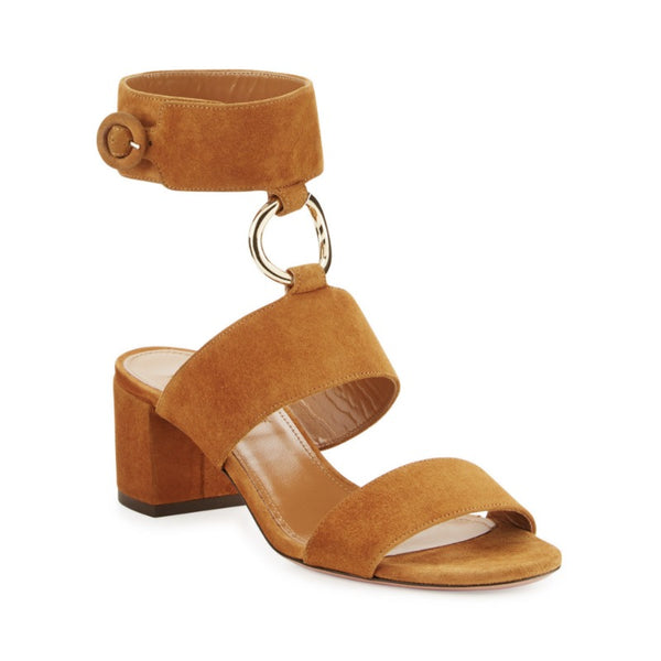 Aquazzura Cognac Safari Sandals