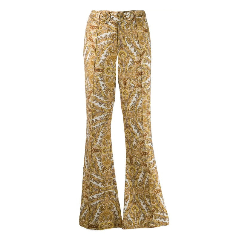 ZIMMERMANN Golden Paisley Zippy Pants