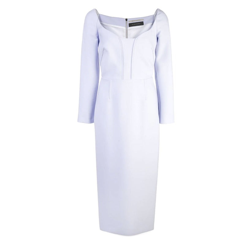 Roland Mouret Ash Blue Ardon Dress