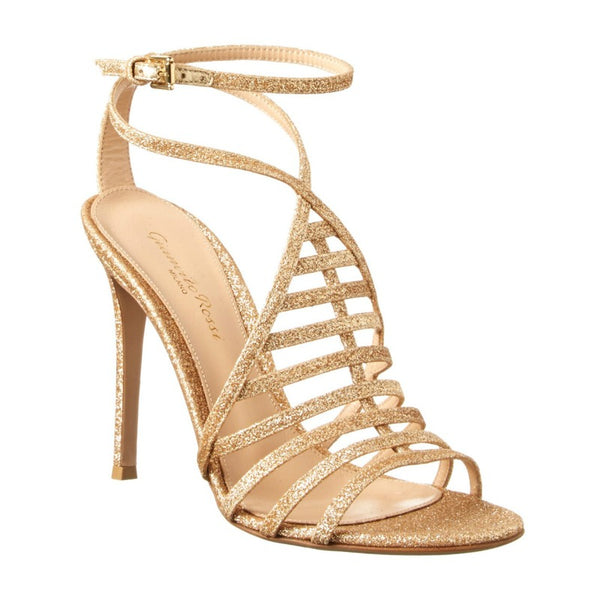 Gianvito Rossi Bright Nude Vega Evening Sandals