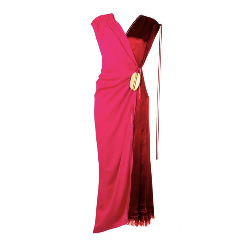Marni Raspberry / Fuchsia Wrap Around Bi Colored Dress