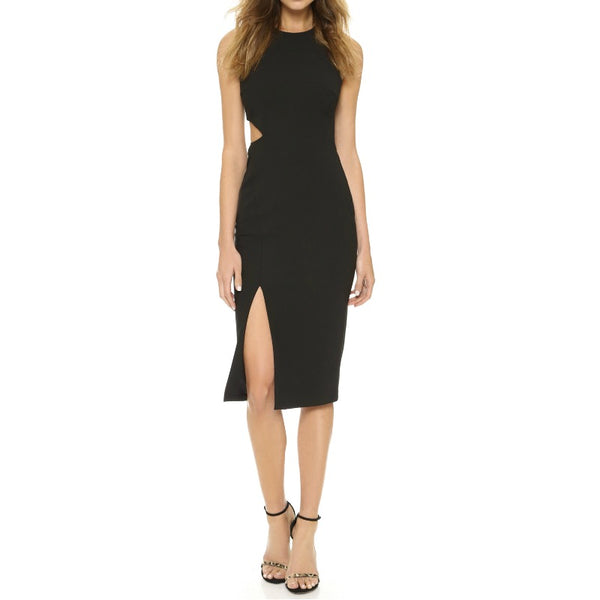 Elizabeth and James Black Giulia Cut Out Dress