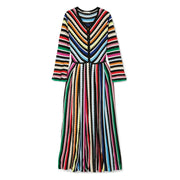 MARY KATRANTZOU Multicolored Maya Striped Crochet Knit Maxi Dress